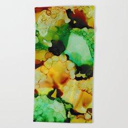 Emerald and Amber Beach Towel