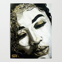 BLACK WHITE AND A LITTLE GOLD COLLECTION Poster
