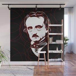 Edgar Allan Poe Circles Portrait Wall Mural