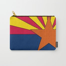 Arizona Map with Arizonan Flag Carry-All Pouch