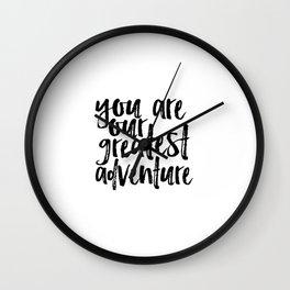 You Are Our Greatest Adventure Print Nursery Art Printable Baby Boy Art Custom Adventure Nursery Wall Clock
