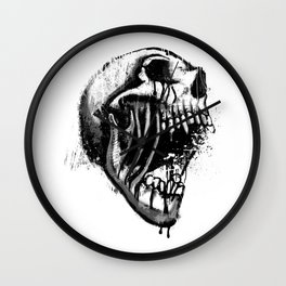 Melting Primal Scream - Skull Wall Clock