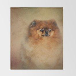 Proud Pomeranian Throw Blanket