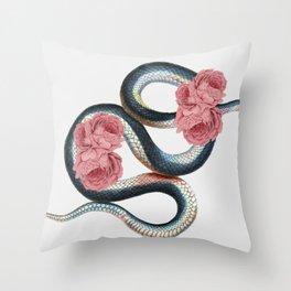 Serpent of love Throw Pillow