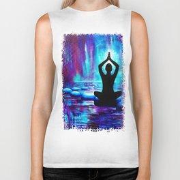 Namaste Yoga Painting Biker Tank