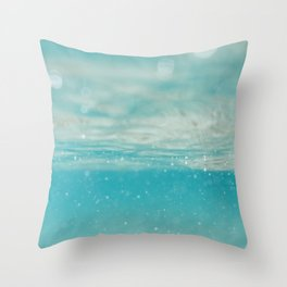 Under sea blue Throw Pillow