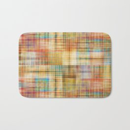 Multicolored patchwork mosaic pattern Bath Mat