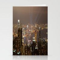 hong kong Stationery Cards featuring Hong Kong by Annie Lynch