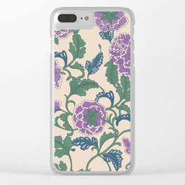 traditional purple-coloured flower Clear iPhone Case