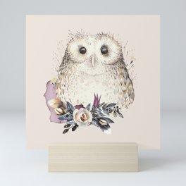 Boho Illustration- Be Wise Little Owl Mini Art Print
