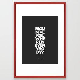 Where is everybody? - by Genu WORDISIAC™ TYPOGY™ Framed Art Print