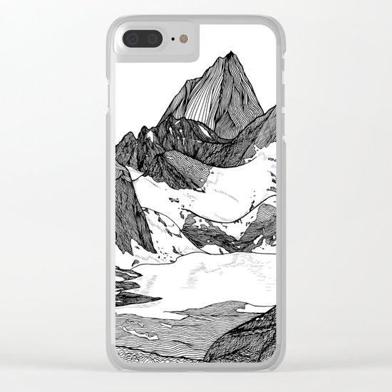Cobalt Lake Clear iPhone Case