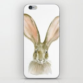 Jack Rabbit Watercolor iPhone Skin