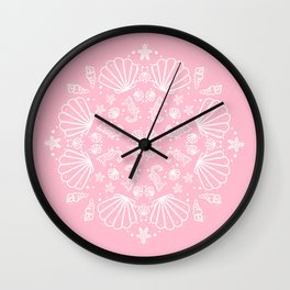 PinkMermaid Wall Clock