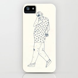 woman with phone iPhone Case