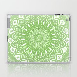 Light Lime Green Mandala Simple Minimal Minimalistic Laptop & iPad Skin