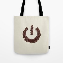 Powered By Coffee. Tote Bag
