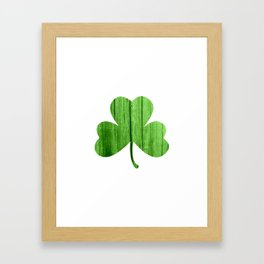 woodgrain shamrock Framed Art Print