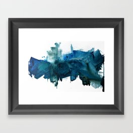 Change: A minimal abstract acrylic painting in blue and green by Alyssa Hamilton Art Framed Art Print