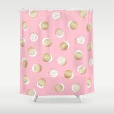 foil texture pattern print Shower Curtain