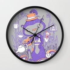 Tea Monkey Tea Party Wall Clock
