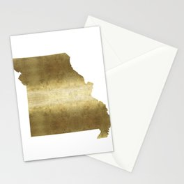 missouri gold foil state map Stationery Cards