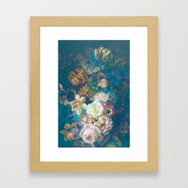 Vintage Spring Flowers Framed Art Print