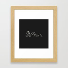 Don't Mess with Nessie Framed Art Print