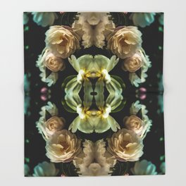 Moody blooms Throw Blanket