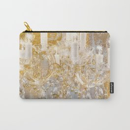 Shabby Glam Chandelier Carry-All Pouch