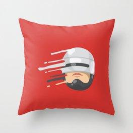 Robo Swipe Throw Pillow