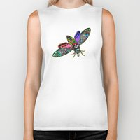 goth Biker Tanks featuring Goth Moth by Jan4insight
