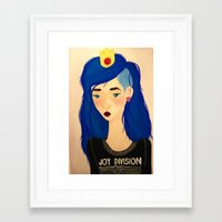 joy division Framed Art Prints featuring joy division. by hagenmarley