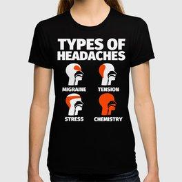 Chemistry Funny Sayings Headache Meme T-shirt