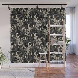 Jackalope - black and cream  Wall Mural