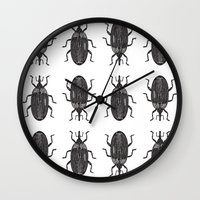 beetle Wall Clocks featuring Beetle by Najla