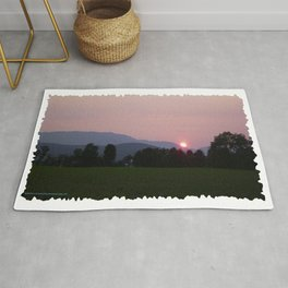 Vermont Sunset over Mad Rive Gle Vermont Rug