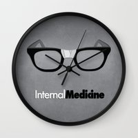 medicine Wall Clocks featuring internal medicine by Stephen Gaeta