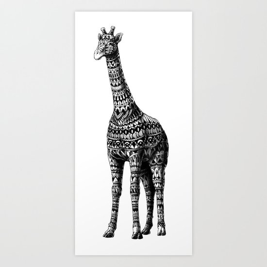 Ornate Giraffe Art Print