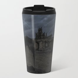 Whitby Abbey darkness Travel Mug