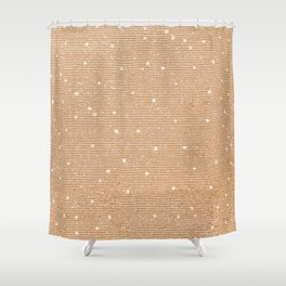 Sideral Heavens - Gold Shower Curtain