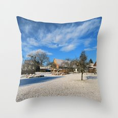 idyllic country life Throw Pillow