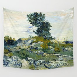 The Rocks by Vincent van Gogh Wall Tapestry