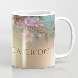 ODAT Plum Blossoms on Green Coffee Mug