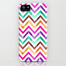 Chevron Multicolor Watercolor iPhone Case