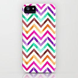 Chevron Multicolor Watercolor iPhone Case