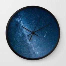Perseid meteor shower Wall Clock