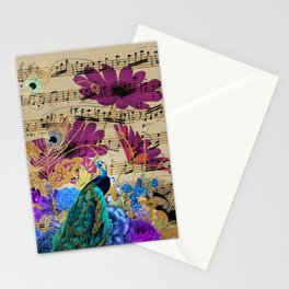 Feather Peacock 19 Stationery Cards