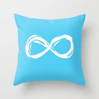 fault in our stars Throw Pillows featuring Fault In Our Stars - Infinity by tangofox