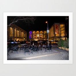 Dante Park and Lincoln Center Art Print